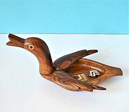 Krabičky - Veľká Drevená krabička Kačička   Big duck jewelry box - 9440627_