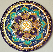 Dekorácie - Mandala ÓM...Zjednotenie - 9441410_