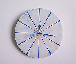 Hodiny - Ručne vyrobené nástenné hodiny – Blue marble - 9441996_