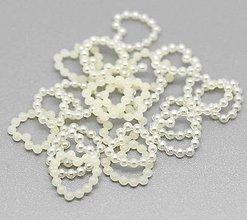 Galantéria - Plastové akrylové srdiečka 1,1 cm / 10 kusov - 9441549_