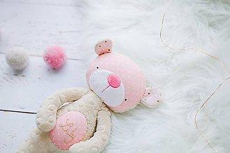 Hračky - Macko béžovo-ružový - 9440029_