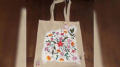 Iné tašky - ♥ Plátená, ručne maľovaná taška ♥ - 9442244_
