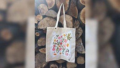 Iné tašky - ♥ Plátená, ručne maľovaná taška ♥ - 9442329_