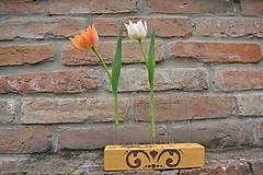 Skúmavková váza na 5 kvetov