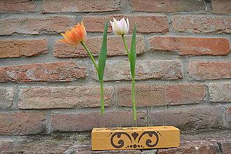 Dekorácie - Skúmavková váza na 5 kvetov - 9440282_