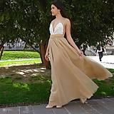 Šaty - Spoločenské šaty s viazaním - 9441463_