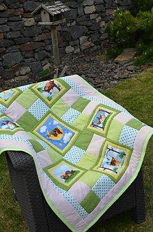 Textil - Bodkovaný medvedík - 9442037_