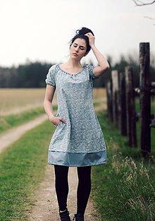 Šaty - Modré vzorové - 9439713_