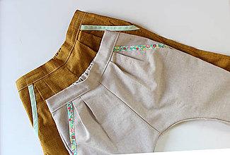 """Detské oblečenie - unisex nohavice """" Béžový Trendsetter """" - 9441350_"""