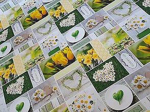 Textil - látka jarné kvety - 9440499_