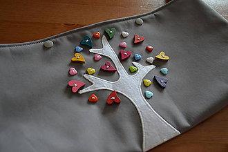 Detské tašky - organizér bez vršku (jednofarebný organizér s aplikáciou) - 9444455_