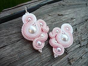 Náušnice - Soutache náušnice Lovely Pearl - 9443872_