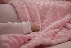 Minky pink deka 70*100cm