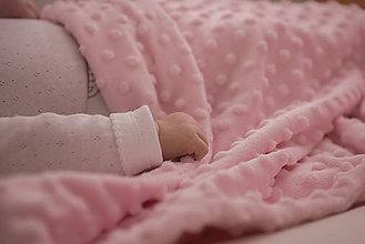 Textil - Minky pink deka 70*100cm - 9442990_