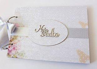 Papiernictvo - album na fotografie svadobný / svadobná kniha hostí - 9442796_