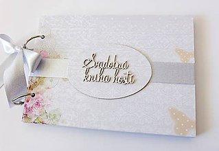 Papiernictvo - svadobná kniha hostí - 9442797_
