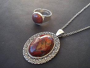 Sady šperkov - Sada - Flame Jasper - 9443569_