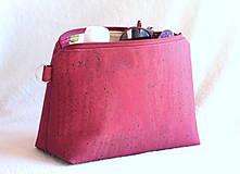 - Korková kozmetická taška - 9443736_