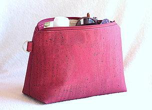 Taštičky - Korková kozmetická taška - 9443736_
