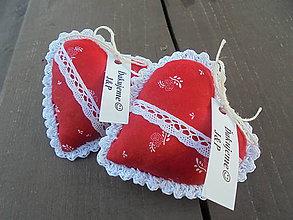 Darčeky pre svadobčanov - Červené svadobné srdiečka - 9444209_