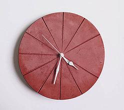 Hodiny - Ručne vyrobené nástenné hodiny – Terracotta pure - 9442710_
