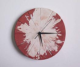 Hodiny - Ručne vyrobené nástenné hodiny – Terracotta explosion - 9442729_