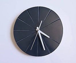 Hodiny - Ručne vyrobené nástenné hodiny – Antracit - 9444398_