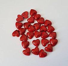 Komponenty - Kabošon srdce howlit - červené (11mm) - 9443414_