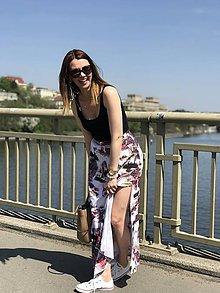 Sukne - Dlhá vzorovaná sukňa - 9444499_