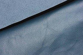 Suroviny - Exkluzívna koža - petrolejovo modrá 22 x 32 cm - 9443655_
