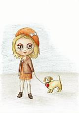 Kresby - Venčenie psa - kresba (2) - 9443905_