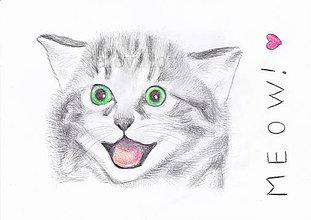 Kresby - Mačička mňau - 9443029_