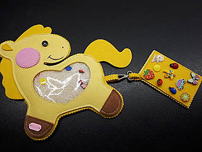 Detské doplnky - Spy bag koník (Žltá) - 9445893_
