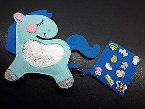Detské doplnky - Spy bag koník (Modrá) - 9445931_