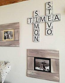 Tabuľky - Scrabble -  drevené  písmenká na stenu - 9445306_