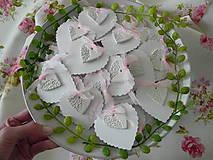 Darčeky pre svadobčanov - Ružové čipkovance pre Vašich hostí... - 9445035_
