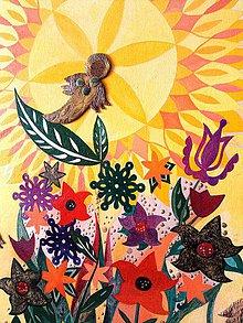 """Obrazy - """"anjelská záhrada"""" - 9446164_"""