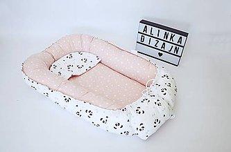 Textil - Hniezdo pre bábätko staroružové s pandami - 9445801_
