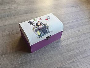 Krabičky - Purple detská šperkovnica - 9446583_