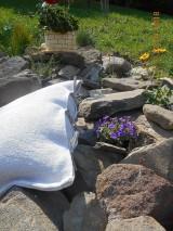 Úžitkový textil - Vankúš  z ručne tkaného ľanu - 9446697_