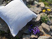 Úžitkový textil - Vankúš  z ručne tkaného ľanu - 9446698_