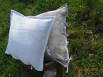 Úžitkový textil - Vankúš  z ručne tkaného ľanu - 9446700_