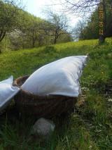 Úžitkový textil - Vankúš  z ručne tkaného ľanu - 9446703_