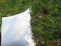 Úžitkový textil - Vankúš  z ručne tkaného ľanu - 9446716_