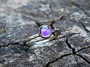 Prstene - Strieborný Prsteň s Ametystom - 9447656_