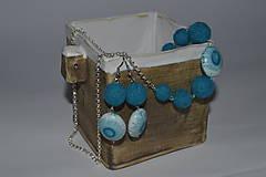 Sady šperkov - Plstená súprava -  tyrkisová - 9447493_