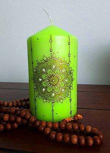 Svietidlá a sviečky - Zelený kvet - 9446187_