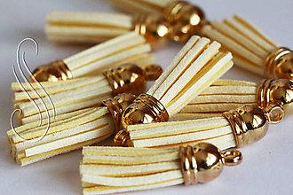 Polotovary - strapec koženkový maslový /1ks - 9447012_