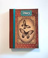Ručne šitý diár * zápisník * sketchbook A5