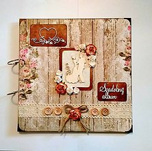 Papiernictvo - Svadobný fotoalbum 30x30 cm - voliteľný nápis - 9444995_